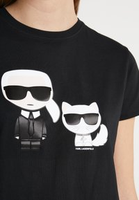 KARL LAGERFELD - IKONIK CHOUPETTE TEE - T-shirt imprimé - black - 5
