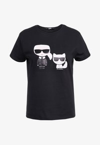 KARL LAGERFELD - IKONIK CHOUPETTE TEE - T-shirt imprimé - black - 4