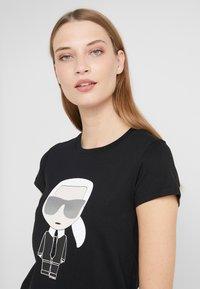 KARL LAGERFELD - IKONIK  - T-shirt print - black - 3