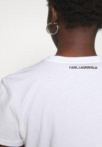 KARL LAGERFELD - PIXEL CHOUPETTE - T-shirt print - white - 4