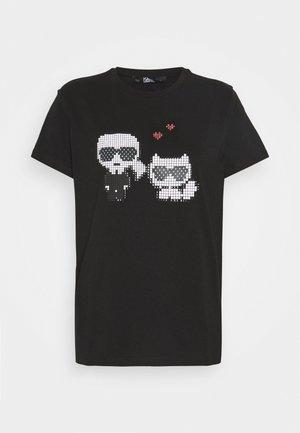PIXEL CHOUPETTE - T-shirt z nadrukiem - black