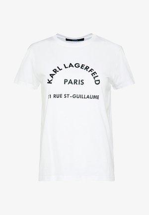 ADDRESS LOGO TEE - T-shirts med print - white