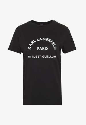 ADDRESS LOGO TEE - T-shirt imprimé - black