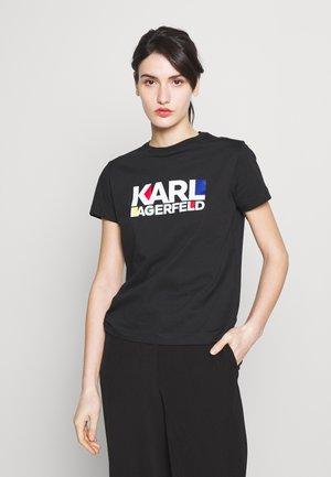 BAUHAUS STACKED LOGO - T-shirt z nadrukiem - black