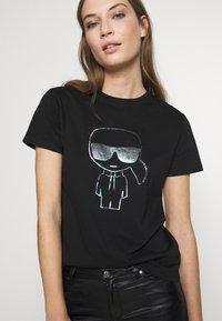 KARL LAGERFELD - KARL IKONIK  - T-shirt print - black - 3