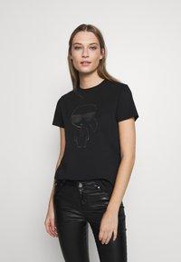 KARL LAGERFELD - KARL IKONIK  - T-shirt print - black - 0