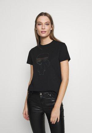 KARL IKONIK  - T-shirt z nadrukiem - black
