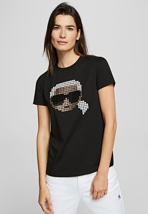 KARL PIXEL - Print T-shirt - black