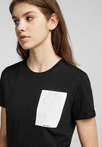 KARL LAGERFELD - Basic T-shirt - black - 4
