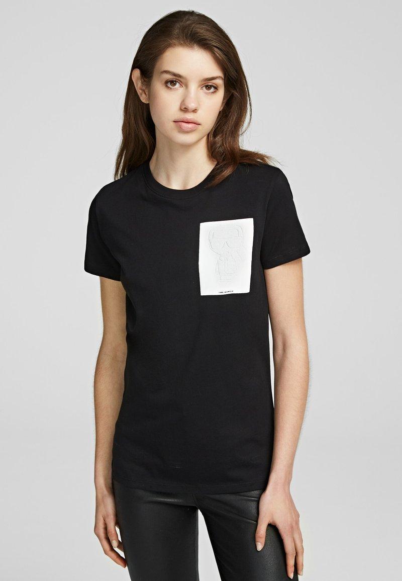 KARL LAGERFELD - Basic T-shirt - black