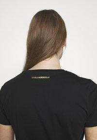 KARL LAGERFELD - IKONIK LOGO - Camiseta estampada - black - 5