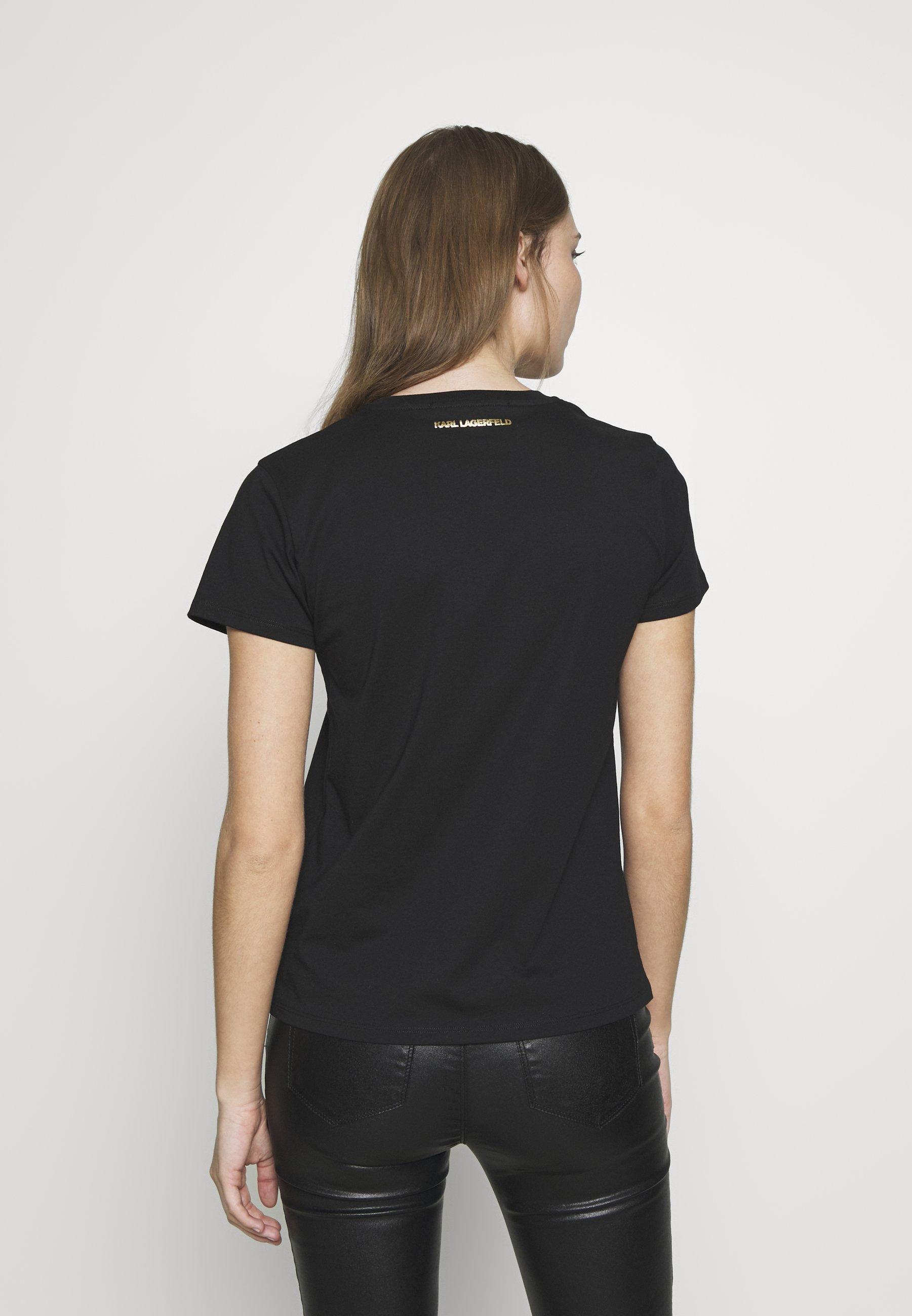 KARL LAGERFELD IKONIK LOGO - T-shirts med print - black