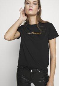 KARL LAGERFELD - IKONIK LOGO - Camiseta estampada - black - 3
