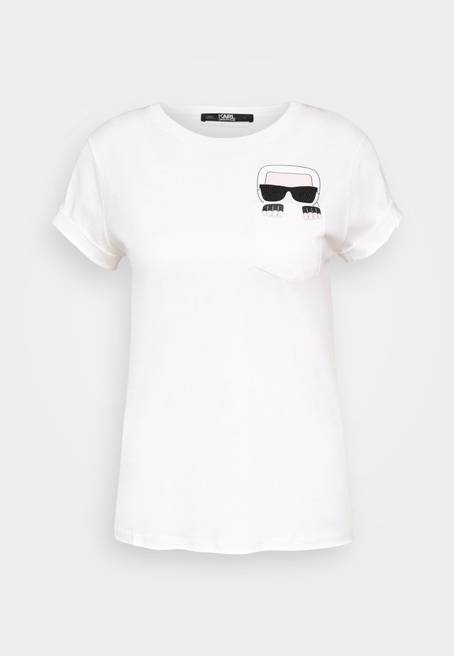IKONIK POCKET - T-shirt med print - white
