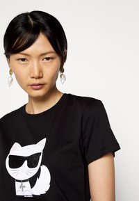 KARL LAGERFELD - IKONIK CHOUPETTE - T-shirt imprimé - black - 3