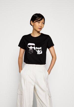 IKONIK CHOUPETTE TEE - T-shirt z nadrukiem - black