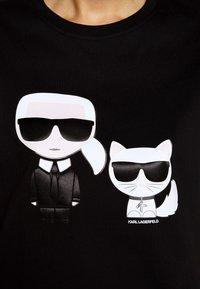 KARL LAGERFELD - IKONIK CHOUPETTE TEE - T-shirt z nadrukiem - black - 5