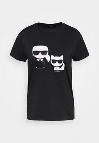 KARL LAGERFELD - IKONIK CHOUPETTE TEE - T-shirt z nadrukiem - black - 4