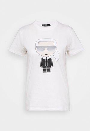 IKONIK KARL - T-shirt z nadrukiem - white