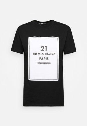 SQUARE ADDRESS LOGO - Print T-shirt - black