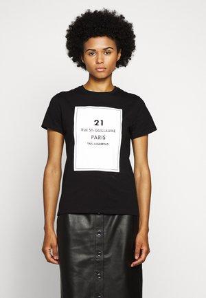 SQUARE ADDRESS LOGO - T-shirt con stampa - black