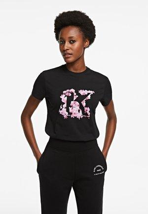 ORCHID K PRINT - Print T-shirt - black