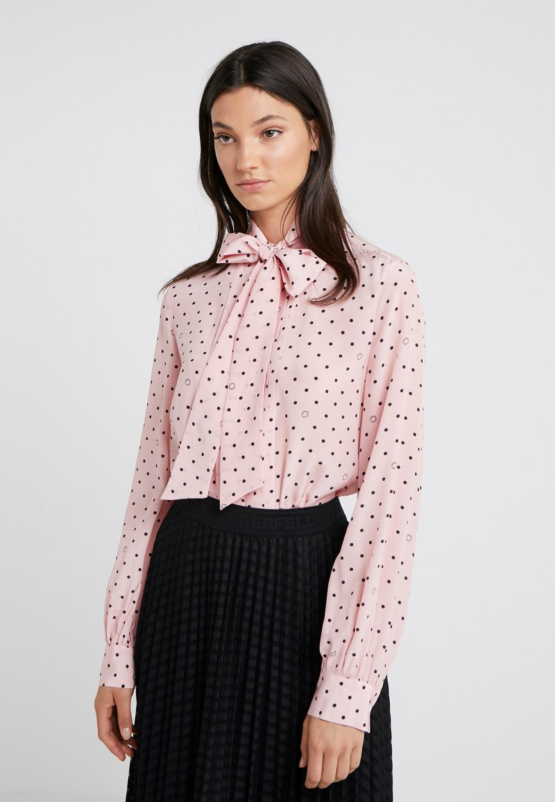 KARL LAGERFELD - BOW BLOUSE - Bluse - mellow rose