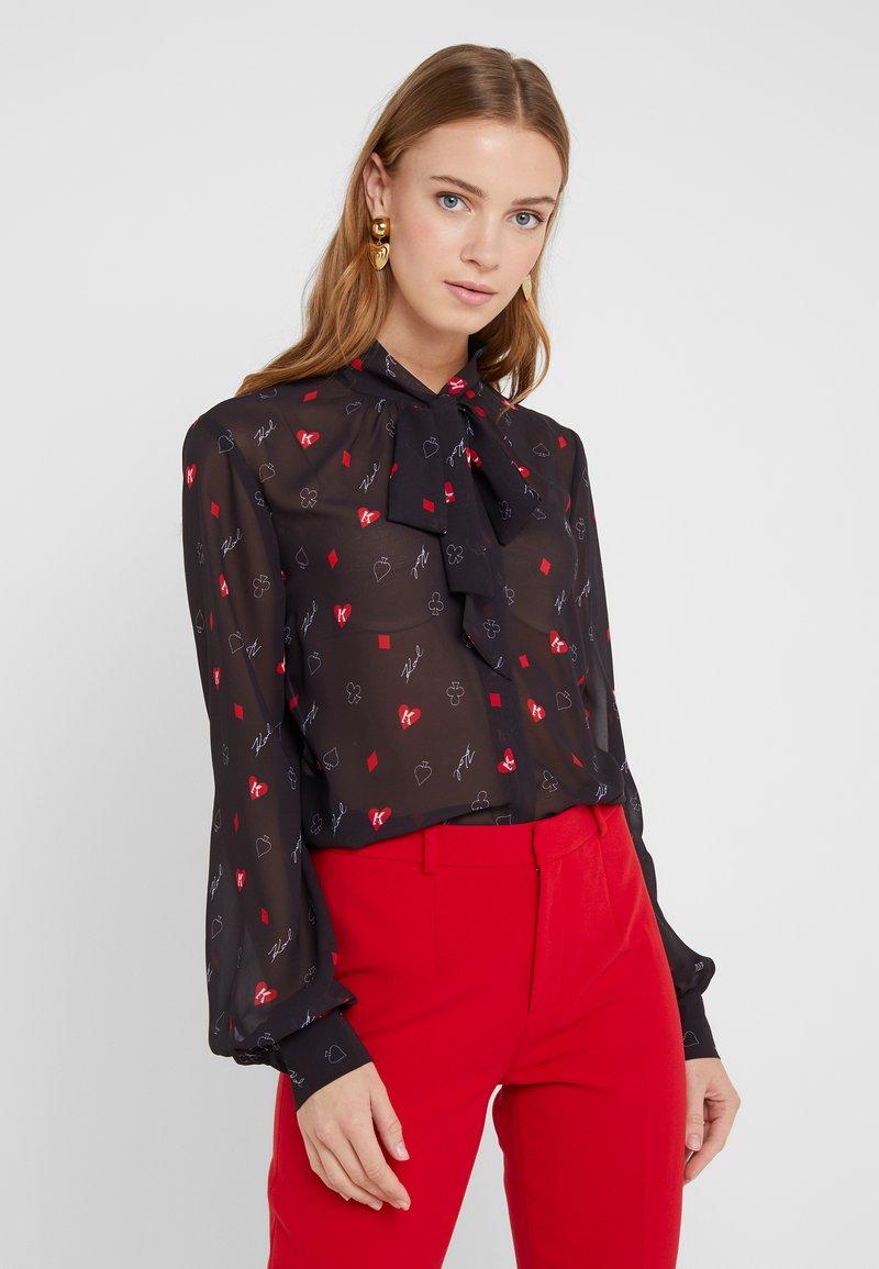 KARL LAGERFELD - Button-down blouse - black