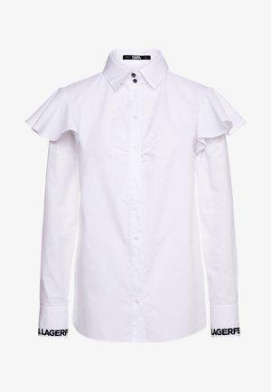 KARL POPLIN  - Blouse - white
