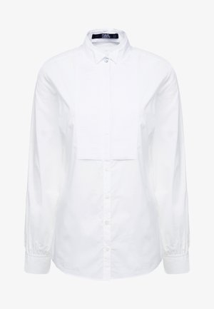 PLEATED PLASTRON POPLIN - Chemisier - white