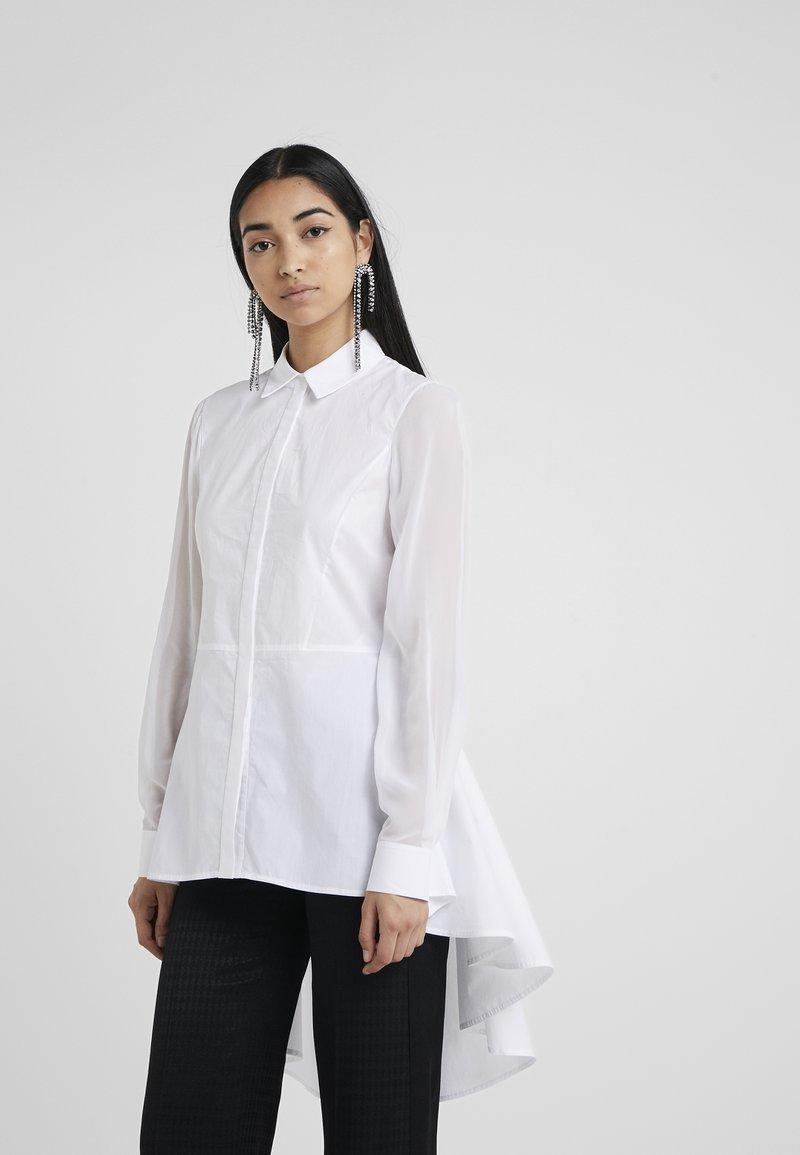 KARL LAGERFELD - POPLIN PEPLUM - Button-down blouse - white