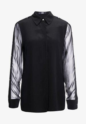 BUTTON PLACKET - Camicia - black