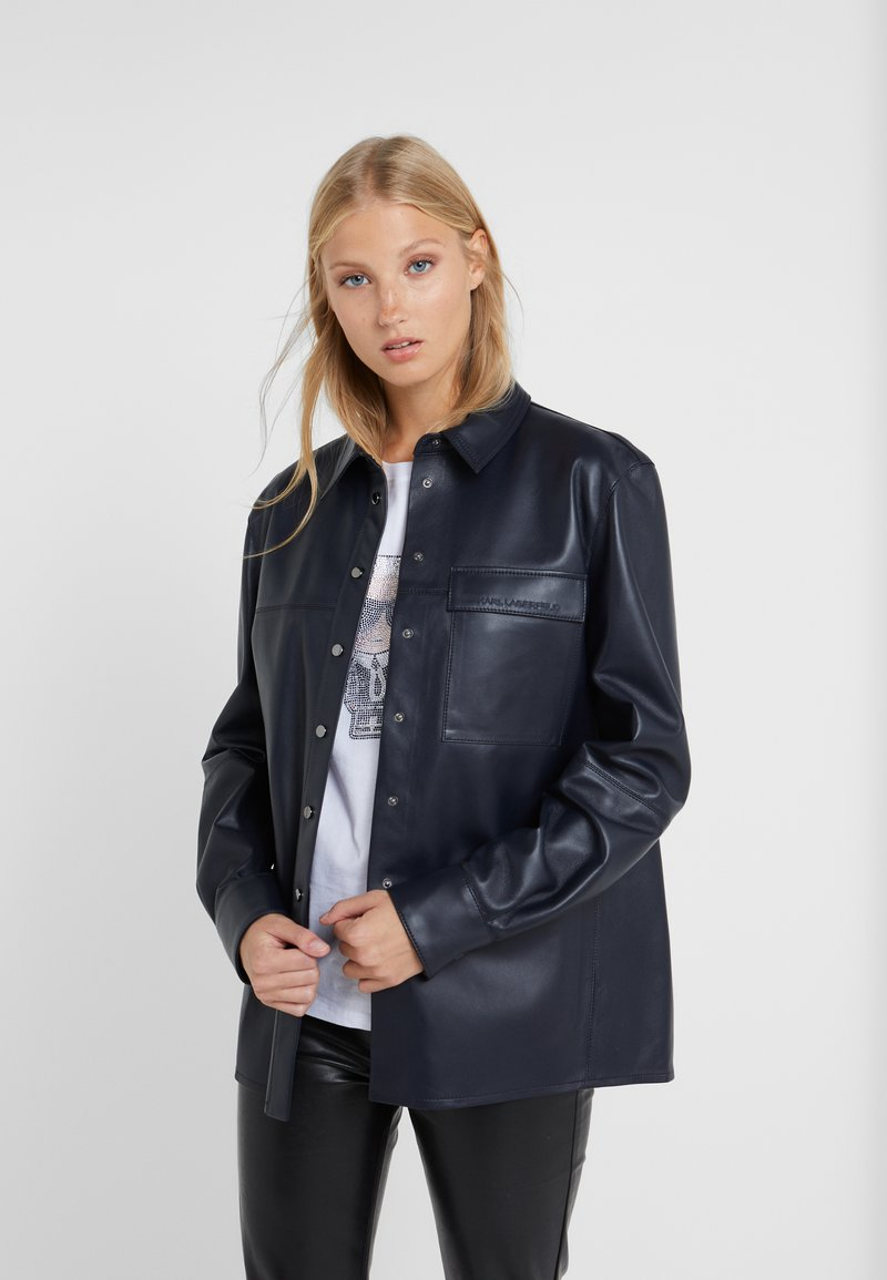 KARL LAGERFELD - Button-down blouse - peacoat