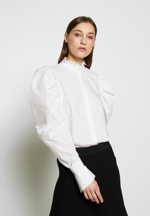 POPLIN BLOUSE PUFF SLEEVE - Blouse - white