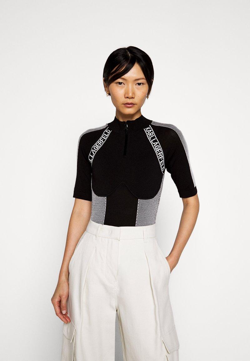 KARL LAGERFELD - BODY SUIT LOGO - Camiseta estampada - black