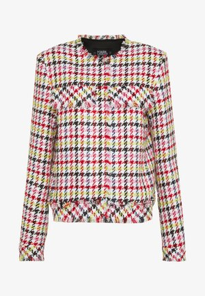 HOUNDSTOOTH BOUCLE JACKET - Blazer - pink