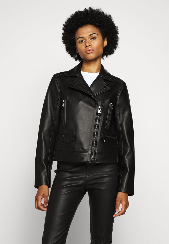 LEGEND BIKER JACKET - Lederjacke - black
