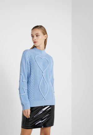 KARL CABLE  - Jumper - black/blue