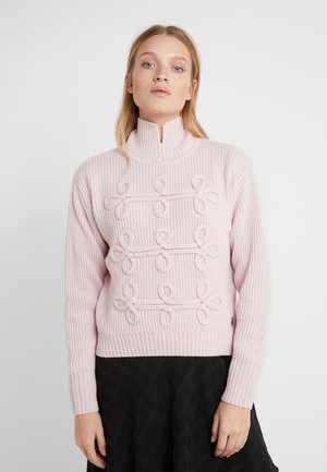 SOUTACHE DETAIL SWEATER - Pullover - misty rose