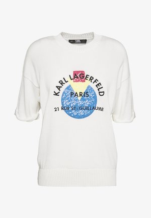 SHORT SLEEVE SEQUINS LOGO - T-shirt con stampa - off white