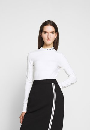 LIGHT WEIGHT LOGO - Sweter - white