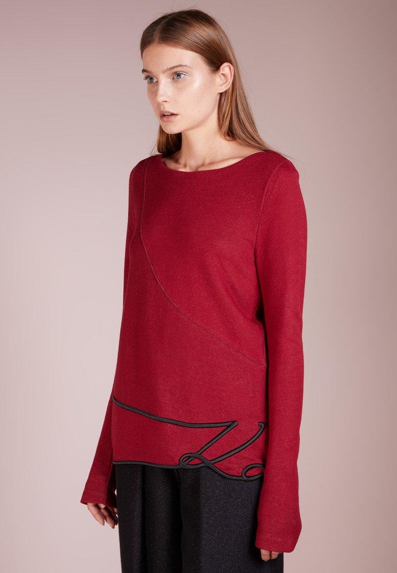 KARL LAGERFELD - SIGNSATURE - Sweatshirt - biking red