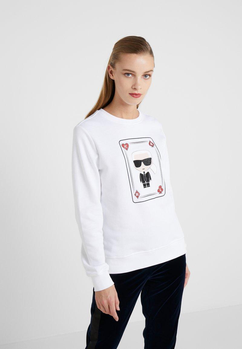 KARL LAGERFELD - KARL & CHOUPETTE  - Sweater - white