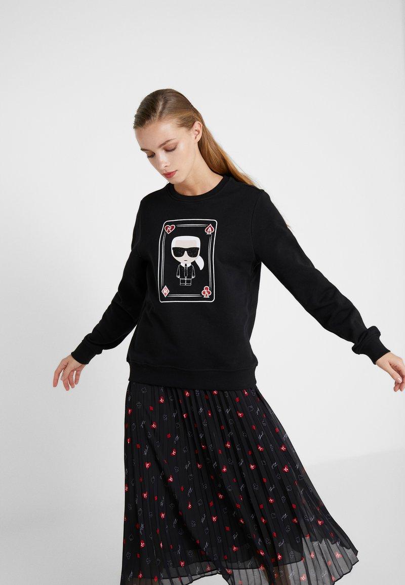 KARL LAGERFELD - KARL & CHOUPETTE  - Sweatshirts - black