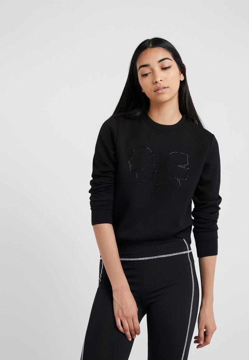 Olivia Lagerfeld Karl Lagerfeld ProfileSweatshirt Black Karl Karl Black Olivia ProfileSweatshirt F1lJKc