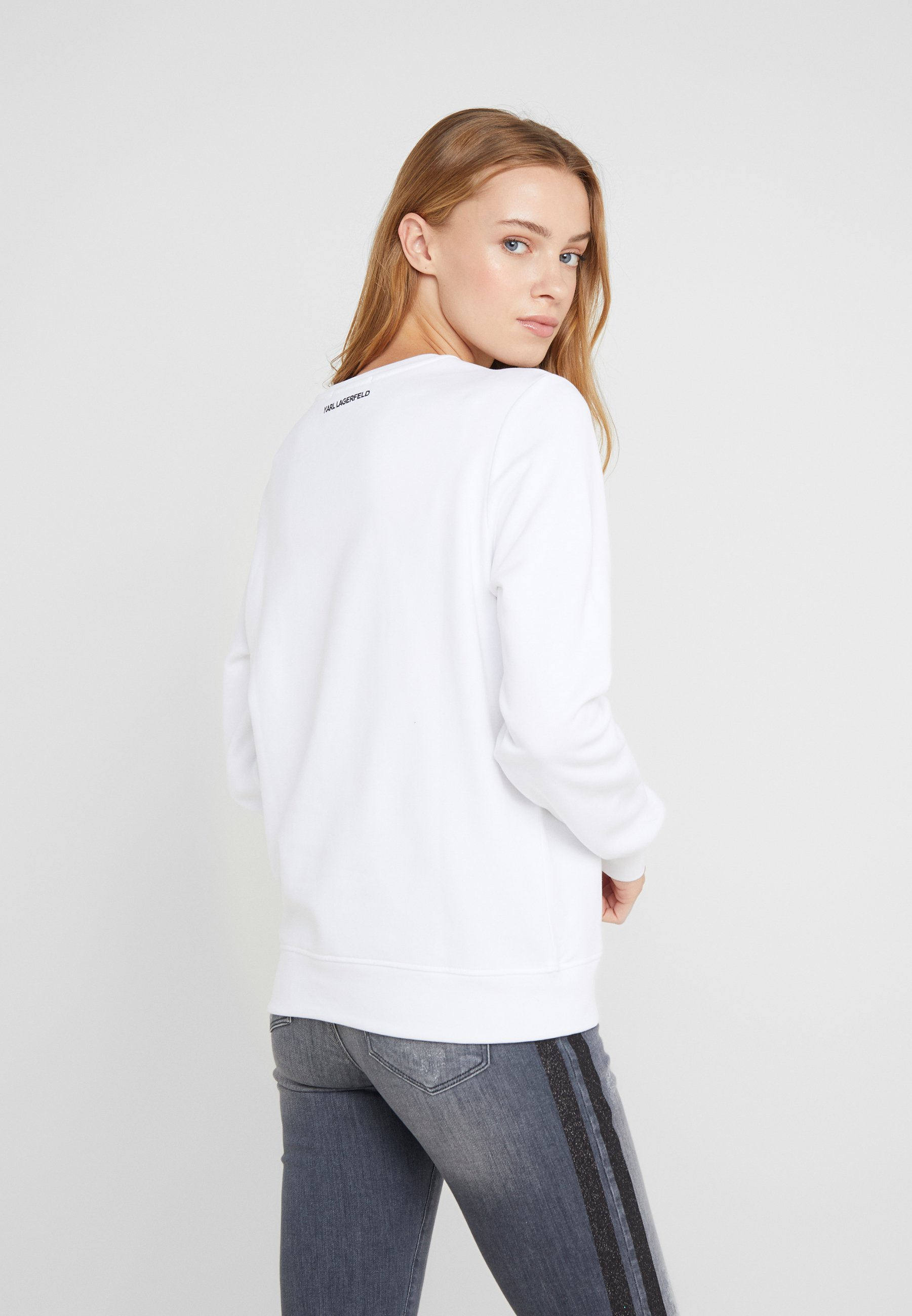 Karl Karl Lagerfeld Lagerfeld White Ikonik ChoupetteSweatshirt throdCQsxB