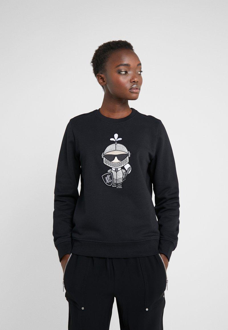 KARL LAGERFELD - KARL'S TREASURE KNIGHT SWEAT - Sweatshirt - black