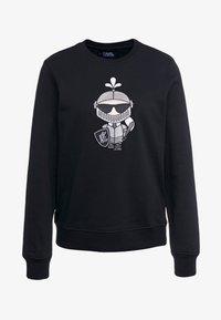 KARL LAGERFELD - KARL'S TREASURE KNIGHT SWEAT - Sweatshirt - black - 4