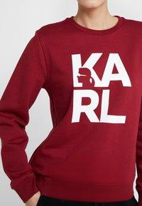 KARL LAGERFELD - SQUARE LOGO - Sweatshirt - bordeaux - 6