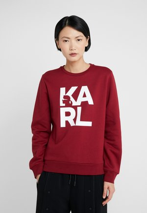 SQUARE LOGO - Sweatshirt - bordeaux